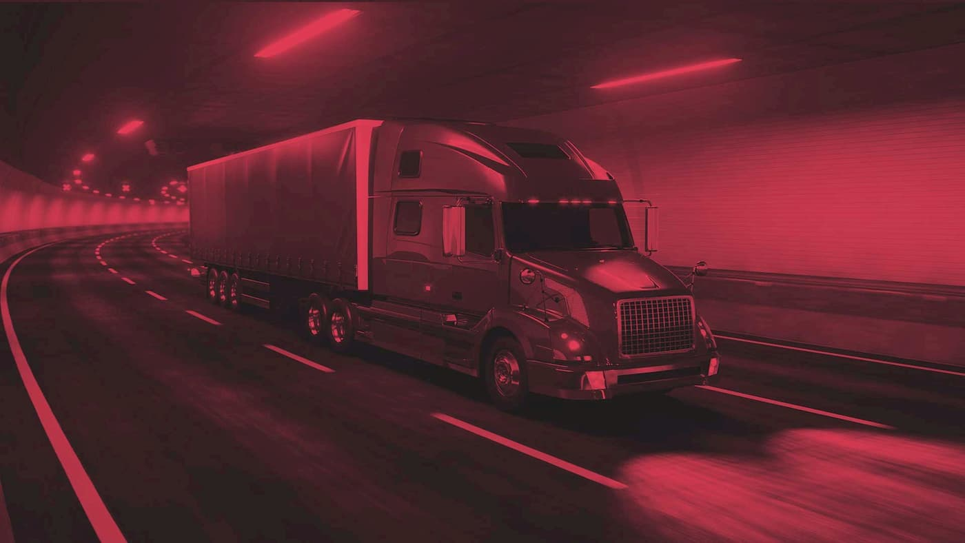 background with truck in tunnel